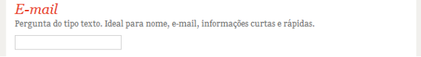 google docs - questão do tipo texto - exibição
