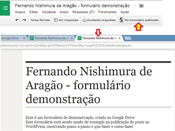 google docs - imagem - publicação