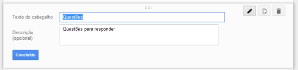 google docs - seção - construção