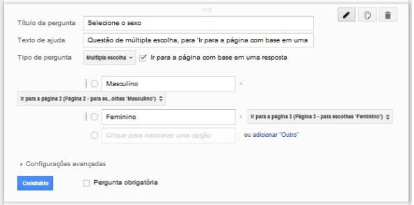google drive quebra de página questão